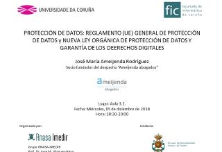 Cartel Charla Protección de Datos